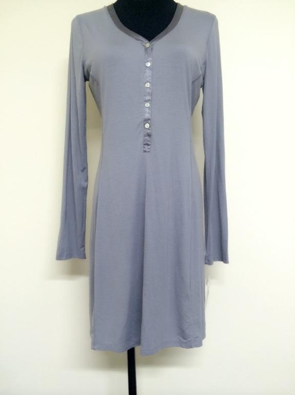 Carole Hochman Keep Me Close Longsleeve Sleepshirt (Grey) Size M