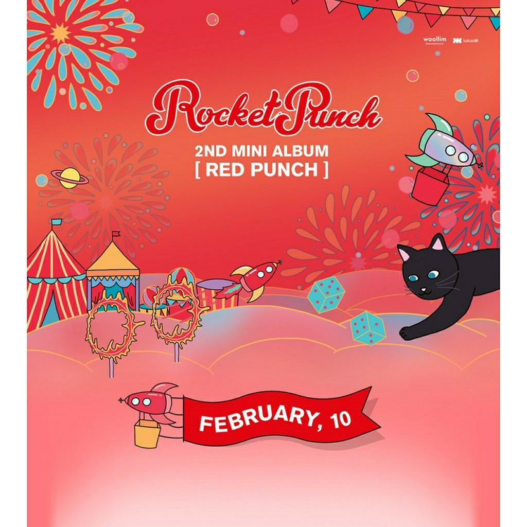 [FREE POSTAGE] Rocket Punch 2nd Mini Album RED PUNCH