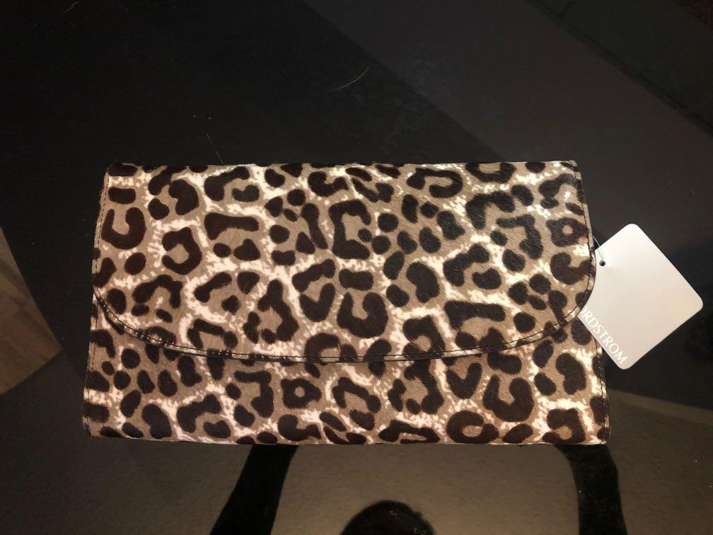New with tags -Nordstrom leather and horsehair clutch