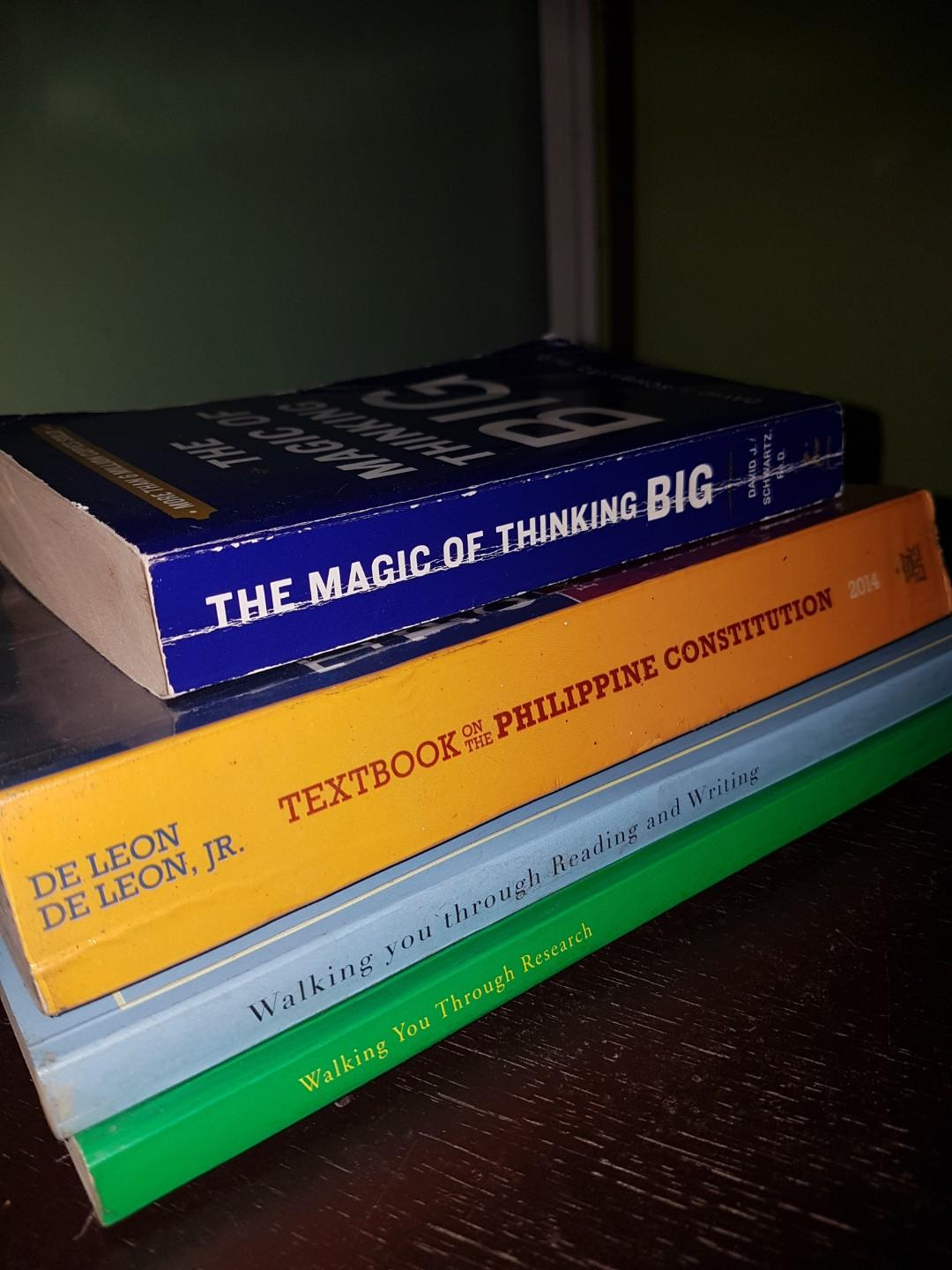 NMAT REVIEWER/thesis research/motivational/philippine constitution books