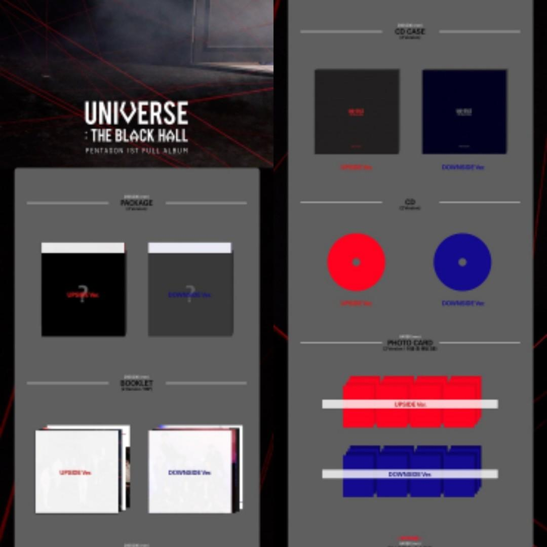 (PO-SEALED)PENTAGON(펜타곤) - UNIVERSE : THE BLACK HALL