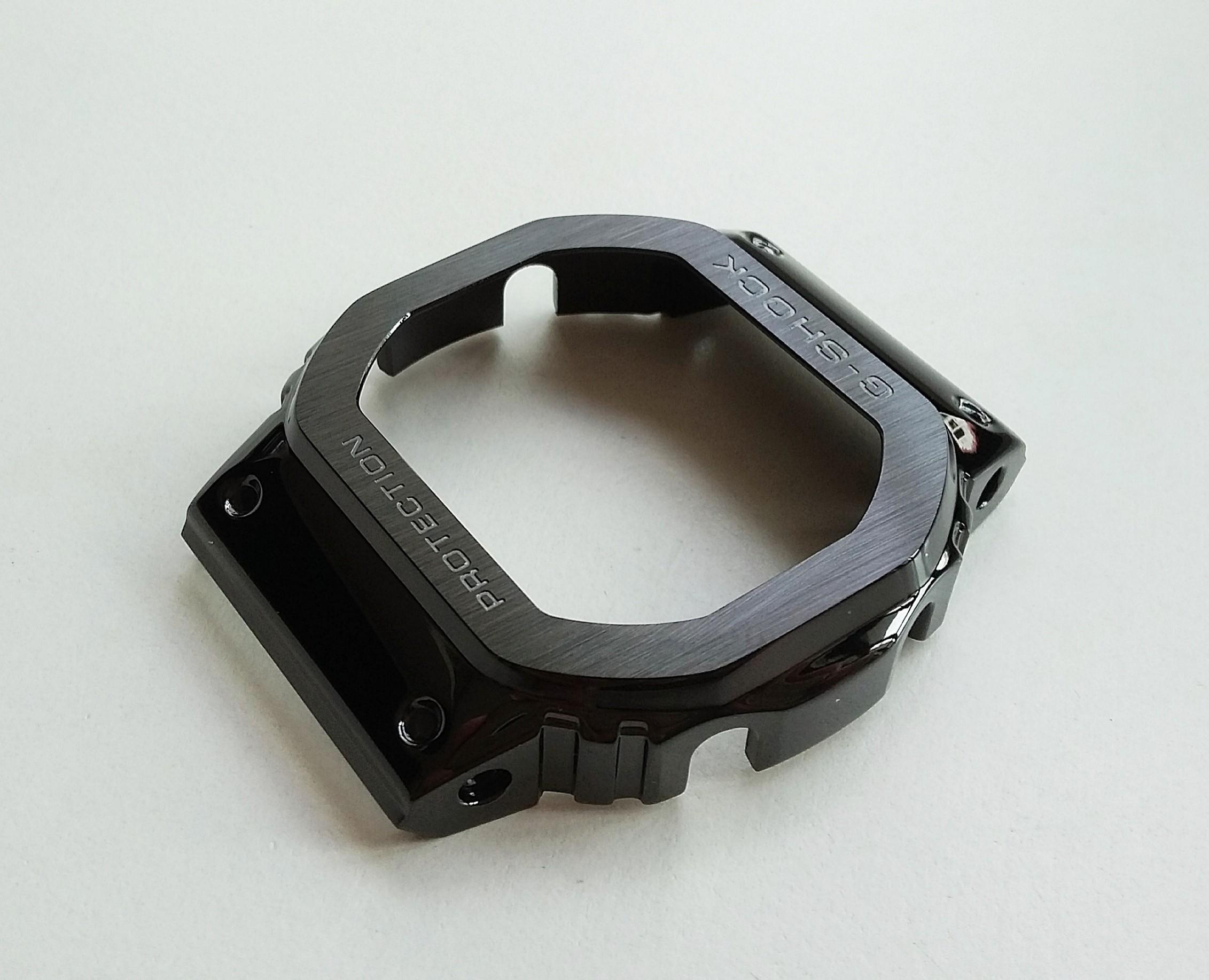 PVD BLACK 316L STAINLESS STEEL PROTECTIVE CASE AND BRACELET (FULL BOX) FOR G-SHOCK  CASIO DW5600 GW-M5610 GLX5600 GW-5000 5035  DW-5000 (PRICE INCLUDE M0DIFICATION)