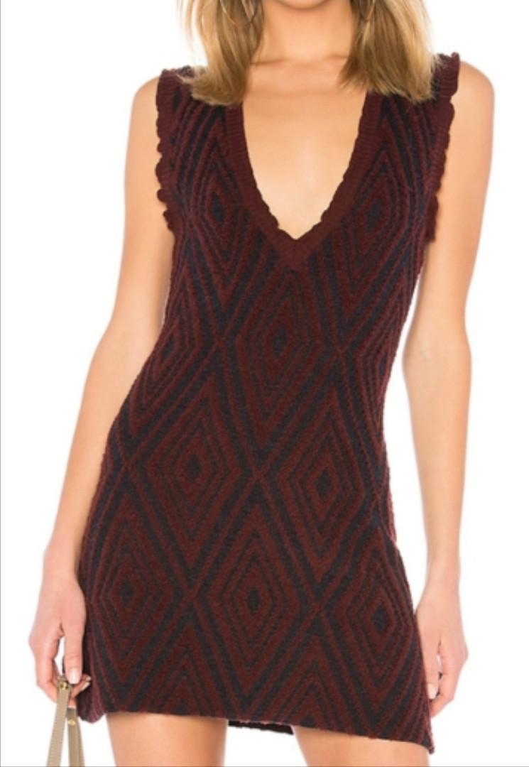 SEE BY CHLOE patterned black & marro dress. Size L