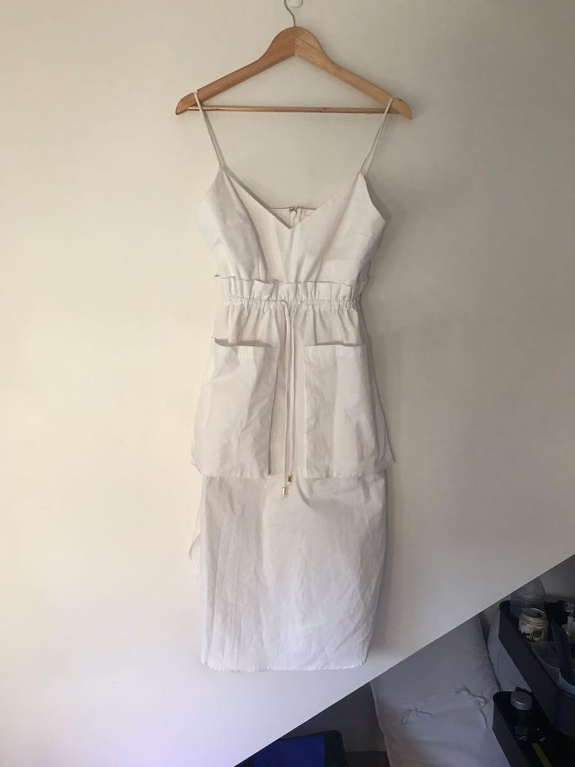 Shakuhachi - white sack dress (adjusted time fit 8/10/12)
