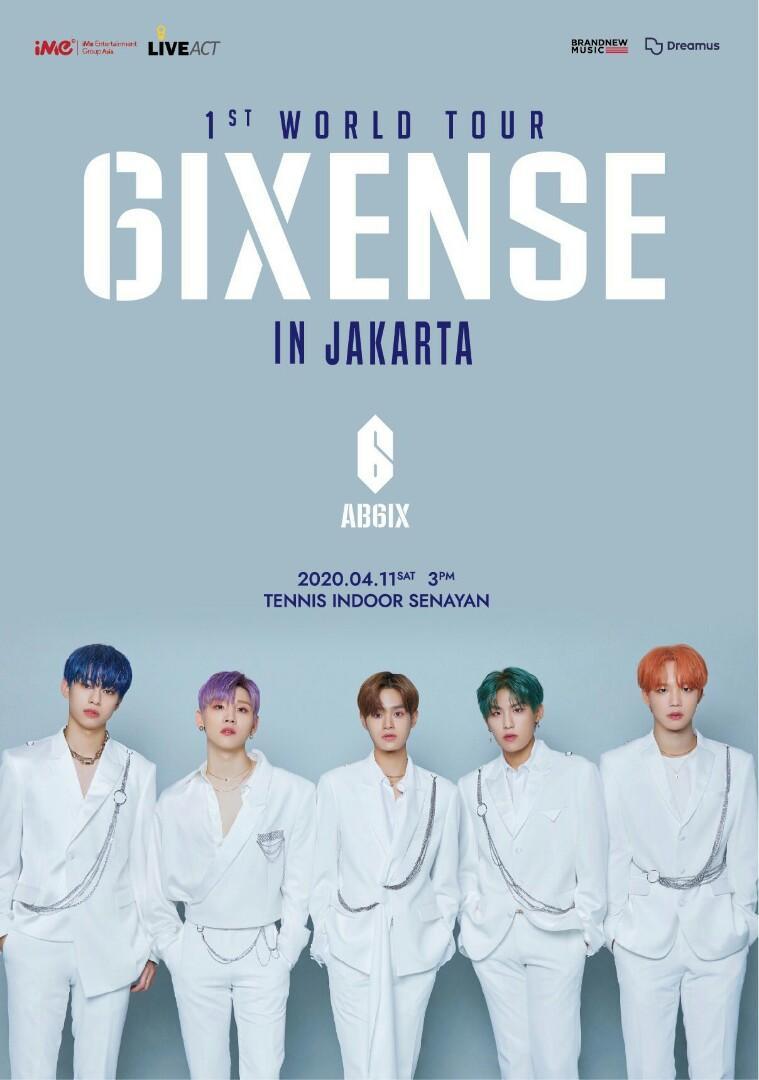 [TIKET FISIK] Open Jastip Tiket Konser AB6IX 1ST WORLD TOUR '6IXENSE' In Jakarta