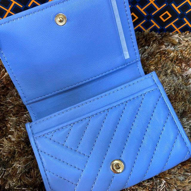 "uthentic New Tory Burch Soft Quilted Leather Alexa Foldable Mini Card Case Wallet #50648##inst 🎈 Size : 4.5""W x 2.5""D x 4""H 🌟195$  #NewwithTag##DustBag # Guaranteed Authentic100% FromTory Burch🇺🇸"