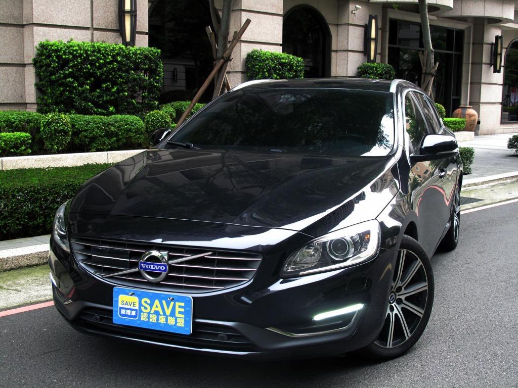 V60 旗艦版 柴油 2.0 全車原鈑 小改款8速 三大安全系統  盲點 天窗 柴油渦輪扭力