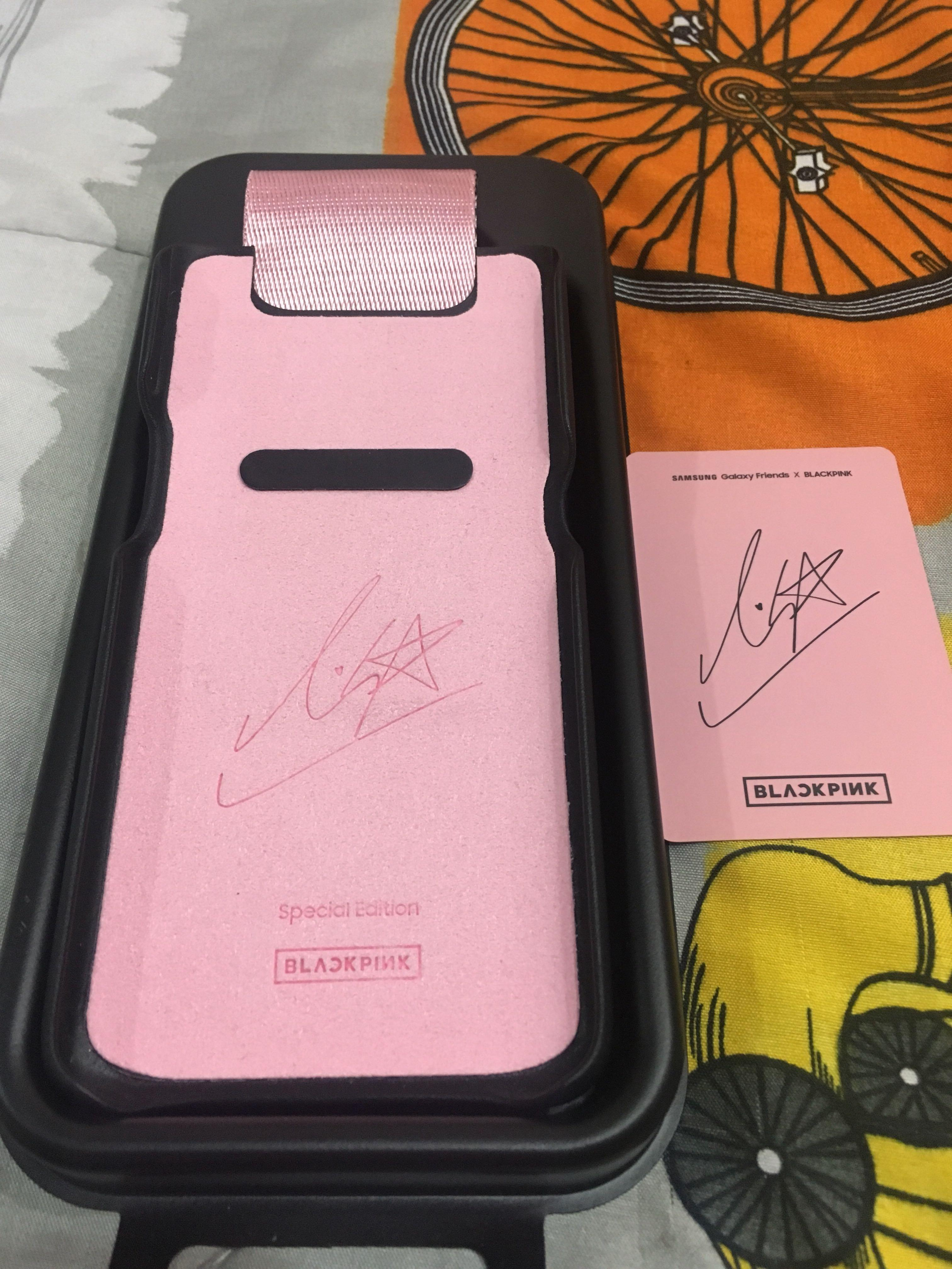 WTS LIMITED OFFICIAL SAMSUNG GALAXY x BLACKPINK PHOTOCARD & CASING