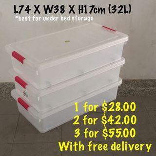 Toyogo Long Storage Box with wheels (32L & 63L)