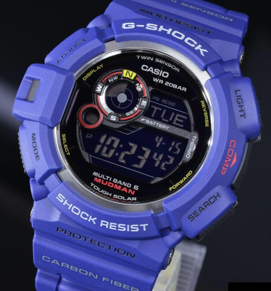 100% Authentic new sealed Casio G-Shock Men in Navy Mudman G-9300NV-2 Watch Band and Bezel Set