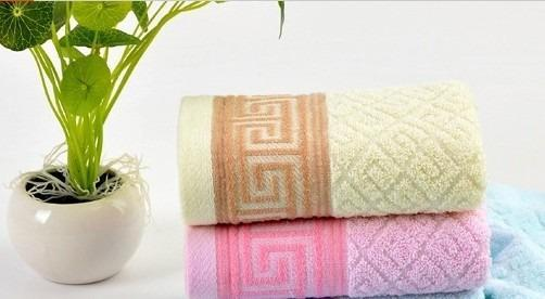 100% Pure Cotton Plain Weave Towels (Pink or Yellow)