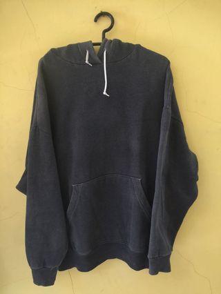 Jaket hoodie jumper plain size XL abu abu