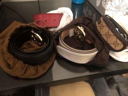 Authentic Gucci belts