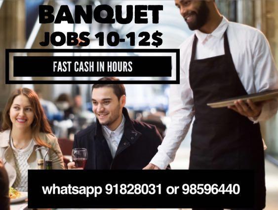 Banquet jobs part time