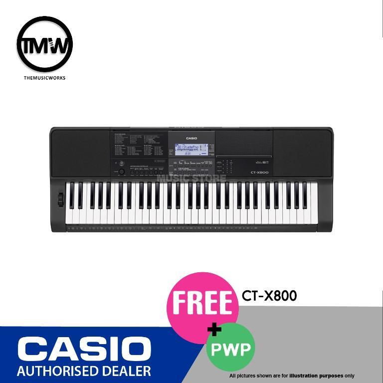 Casio Music Sale @ Viva Business Park! Casio Digital Keyboard CT-X 800