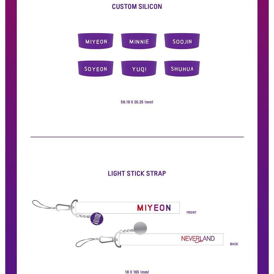 GIDLE LIGHTSTICK & LIGHTSTICK ACCESSORY (check descriptions for price)