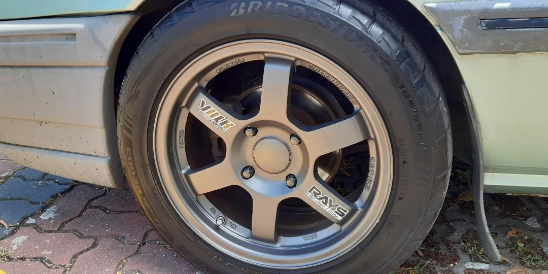"Iswara 1.3(m) HWL adj. Volks TE37 15"" Potenza rear brake disc"