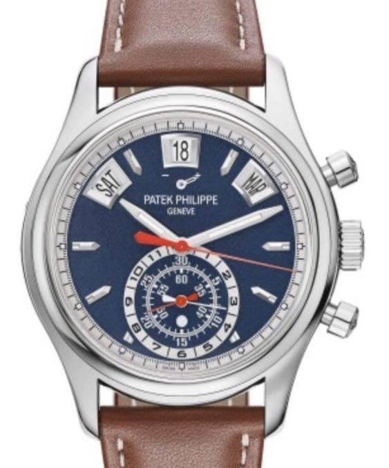 Patek Phillipe Complications Chronograph Automatic Blue Dial Men's Watch 5960-01G - Unworn 2020 discontinued model complete set.