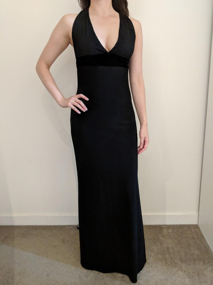 SEED long maxi dress gown black marked Size 4 (but fit 6) XS for ball, wedding