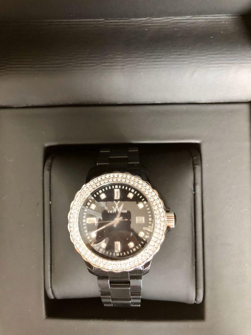 *sold out* brand new rhinestone ToyWatch in black! MSRP $350 perfect Valentine's day surprise!