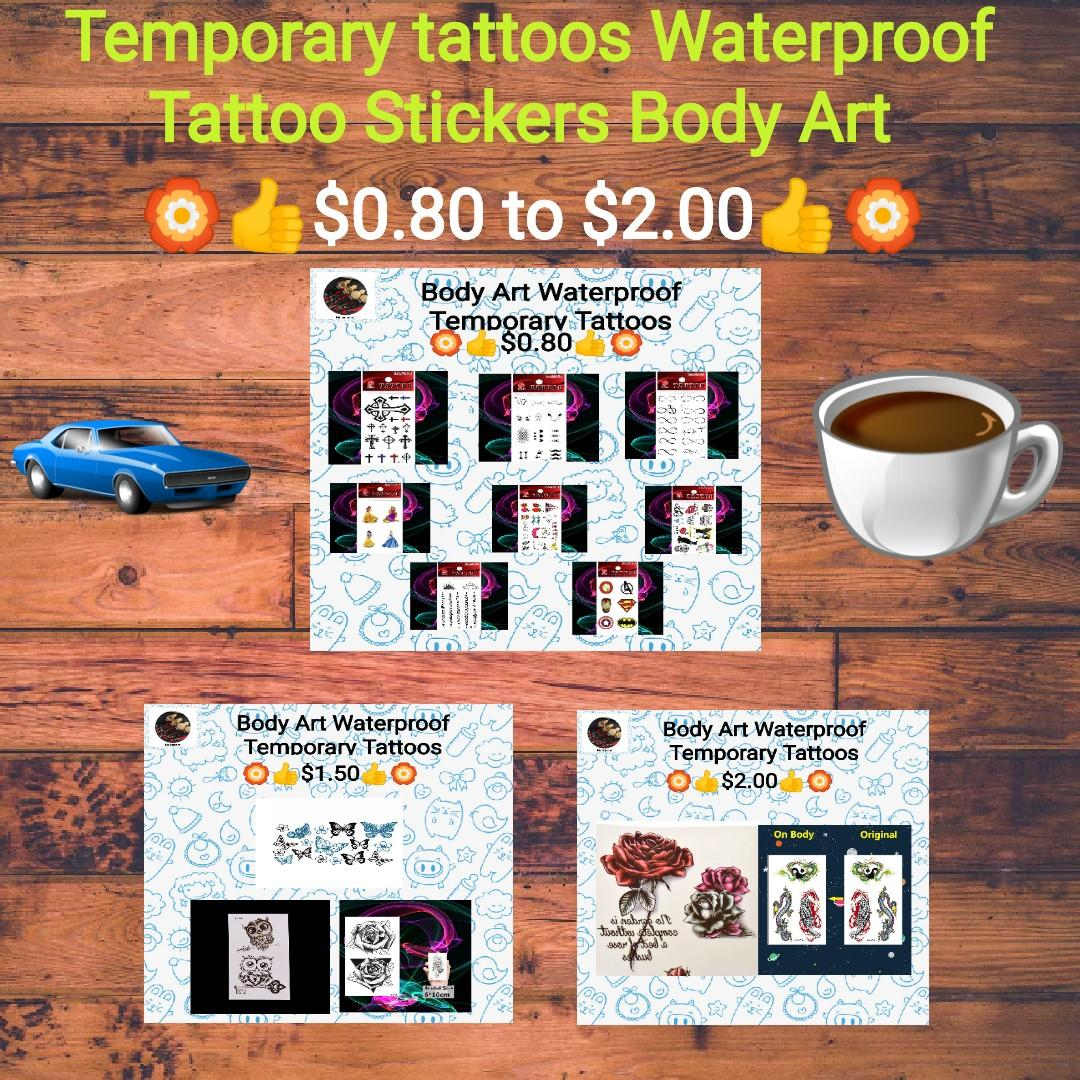 Temporary Tattoos Waterproof Tattoo Stickers Body Art Painting For Party Event Decoration Electronics Others On Carousell