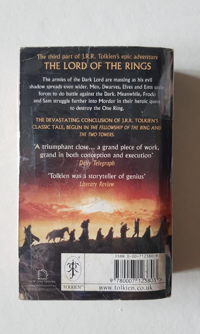 The Lord of the Rings Part Three: The Return of the King Book
