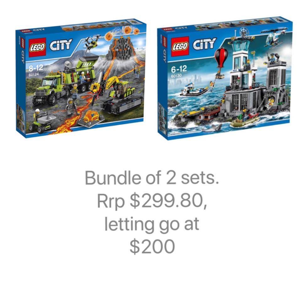 LEGO 60124 City VOLCANO EXPLORATION BASE New /& Sealed