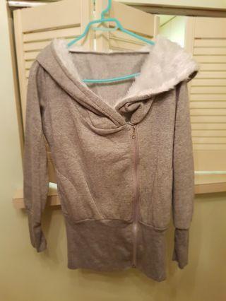 Women's Grey Zipup Hoody