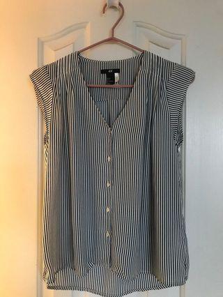 H and m chiffon blouse