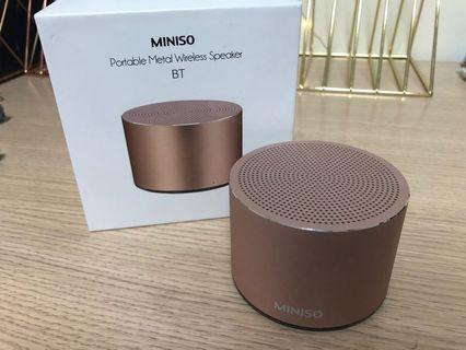 Miniso金屬便攜藍芽音箱
