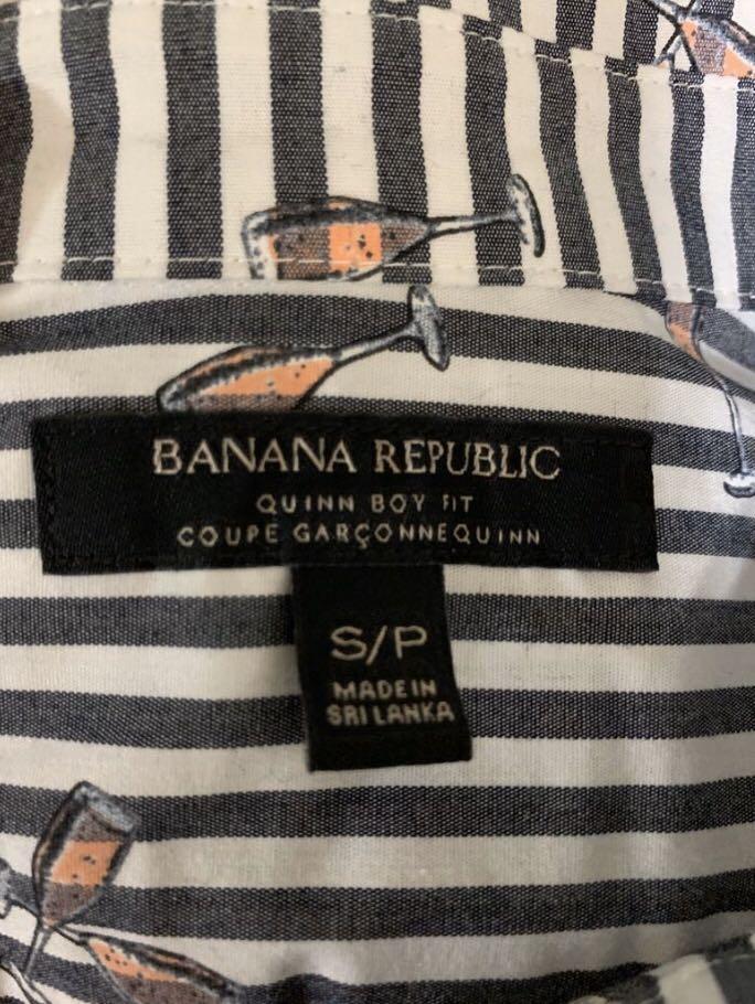 Banana Republic Quinn Boy Fit Oxford Top Size Small