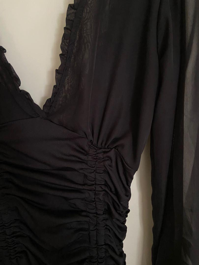 🤎🖤BLACK🤎🖤 clubbing ruched dress party backless mini dress