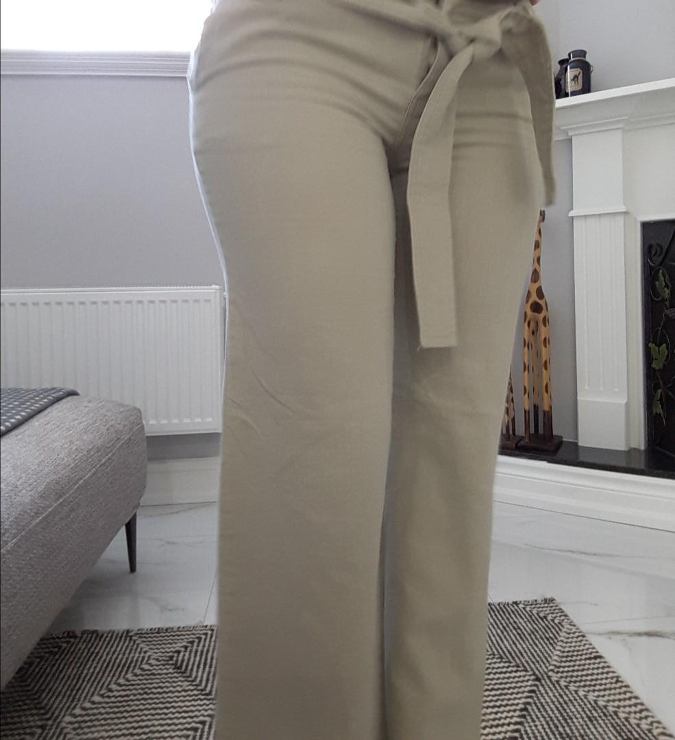 Cotton/Linen Pants Wide Leg Small (wears like a 6)