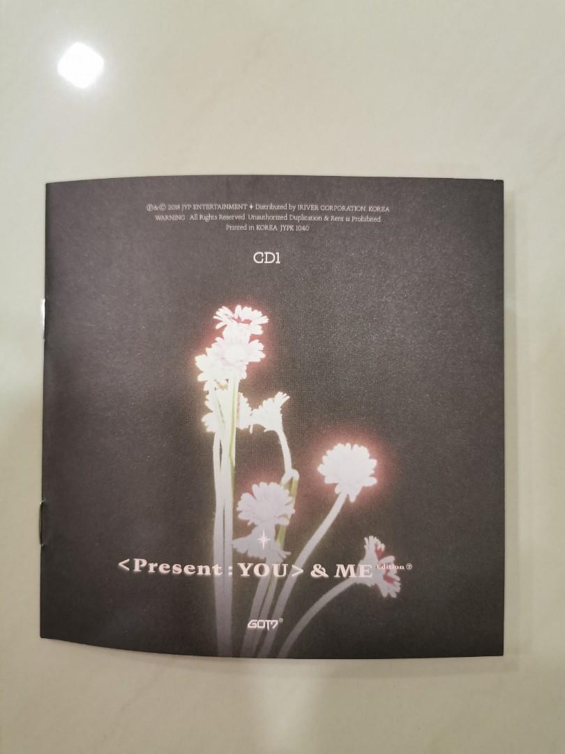 GOT7 PRESENT YOU & ME LYRIC BOOK: JINYOUNG VERSION