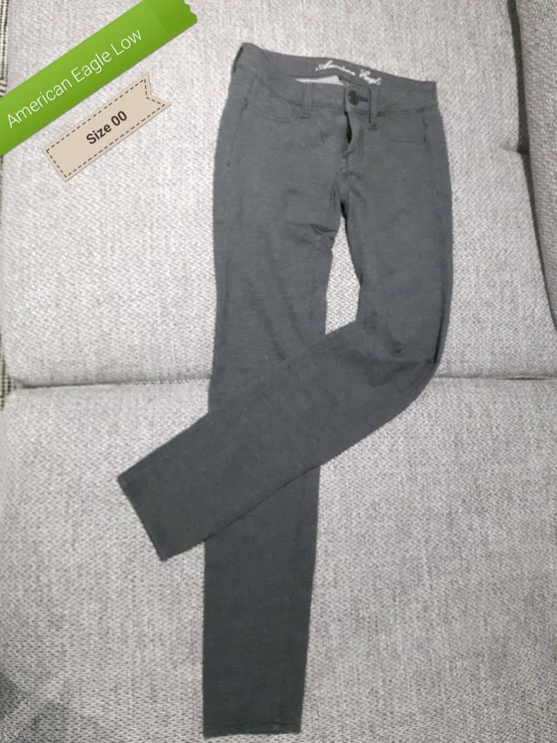 Jegging mid waist Size 00- Mid grey American Eagle