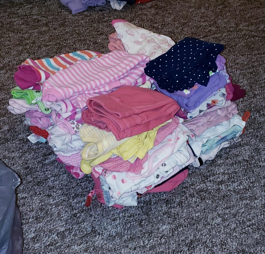 More than half brand new some lightly used baby girl clothing