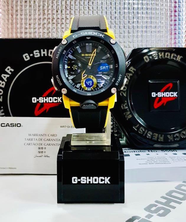NEW🌟BUMBLEBEE🐝THEME : GSHOCK UNISEX DIVER SPORTS WATCH : 100% ORIGINAL AUTHENTIC CASIO G-SHOCK : GA-2000-1A9 / GA2000-1A9 / GA-2000s-1ADR