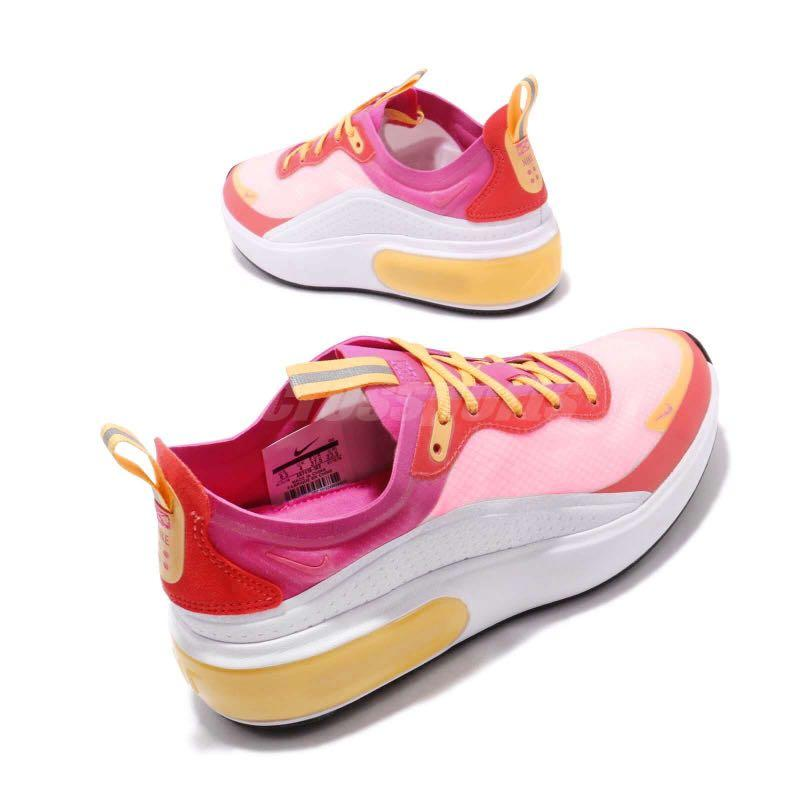 NEW, Nike, Special Edition, Premium Air Max Dia Trainers, sneakers white, pink, red, yellow. U.S Women's size: 8.5