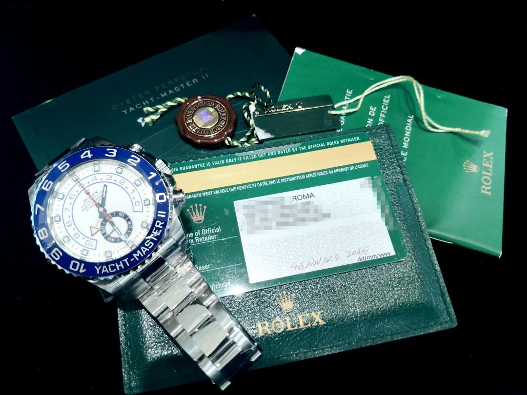PREOWNED ROLEXYATCHMASTER 2, Regatta Chronograph 116680, Oystersteel , 44mm, Alphanumeric Series @ Year 2015 Mens Watch