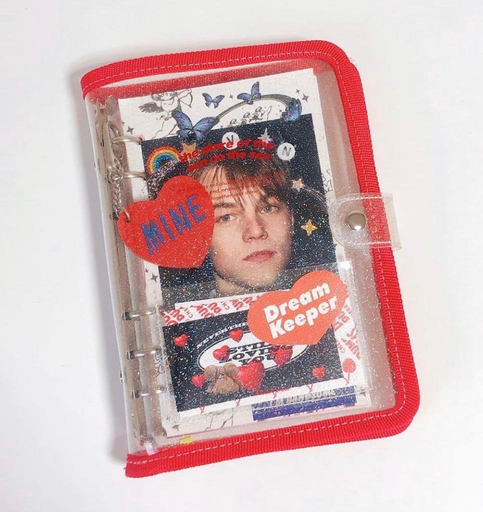 red a6 6 ring binder journal diary kpop 1580630203 8a0614a2 progressive