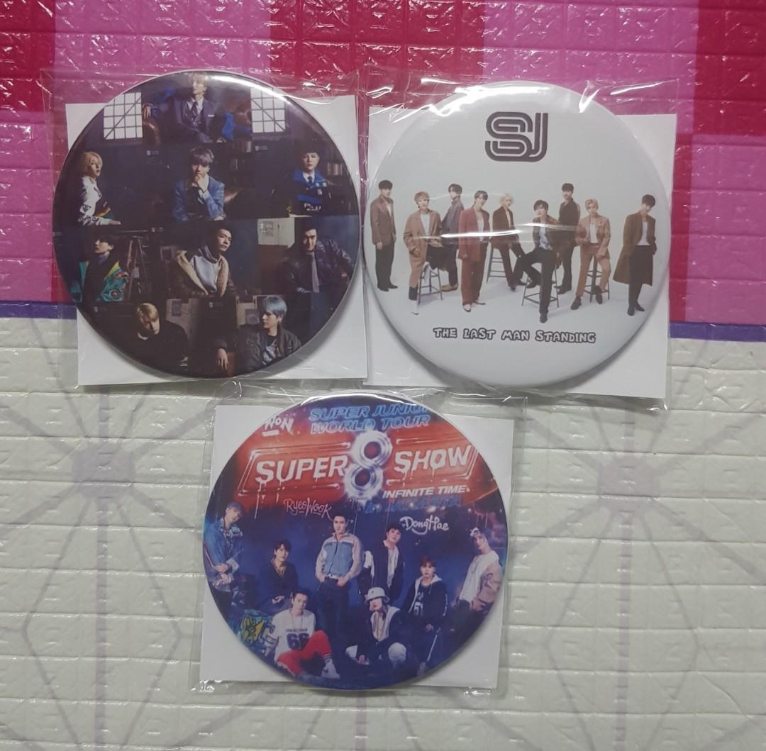Super Junior Button Badge