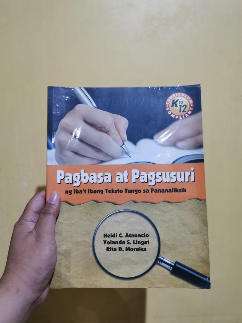 Textbook: Pagbasa at Pagsusuri ng ibat ibang teksto tungo sa pananaliksik