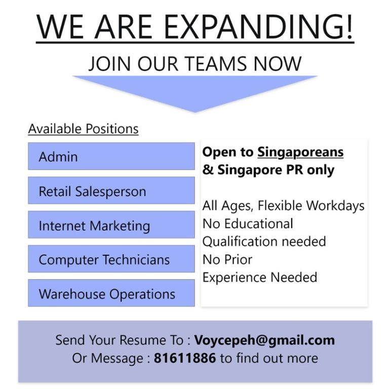We are expanding!! Join our team!!!