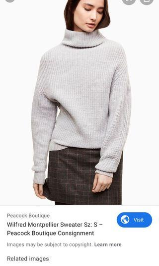 Aritzia Wilfred Montpellier Sweater Small