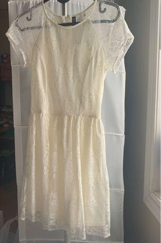 Cream laced dress from H&M (size 4 US)