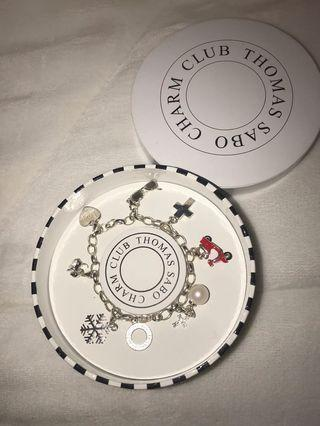authentic Thomas Sabo charm bracelet with charms