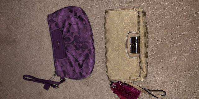 Coach wristlets, phone wallet and purse