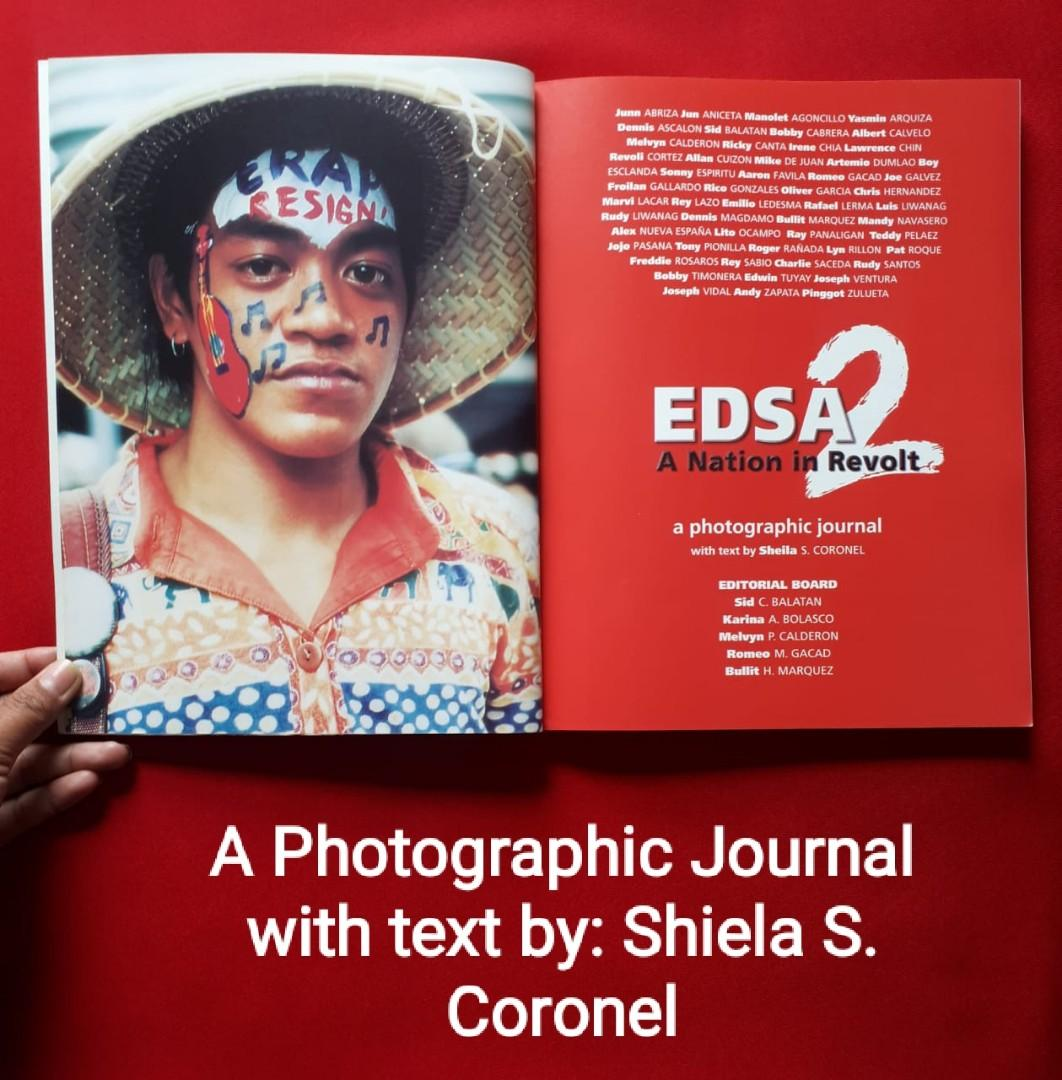 📕BOOK FOR SALE :  EDSA 2 - A Nation In Revolt A Photographic Journal with  Text by: Sheila S. Coronel