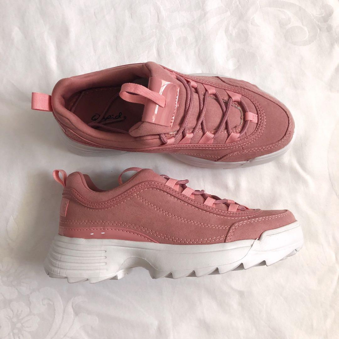 Chunky Dad Shoes (Rose Pink), Women's