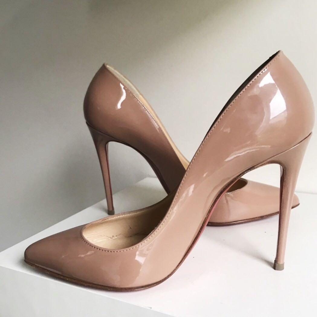 FIRM PRICE Louboutin Pigalle follies nude pumps 35 / 5
